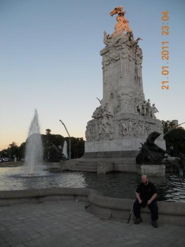 Fountain of the 'Monumento de los Espanoles' (Spanish Monument), located in Sarmiento y Libertador part of the Palermo district.