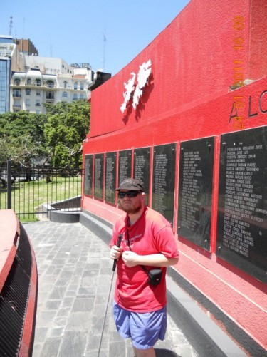 Malvenas (Falkland Island) War memorial.