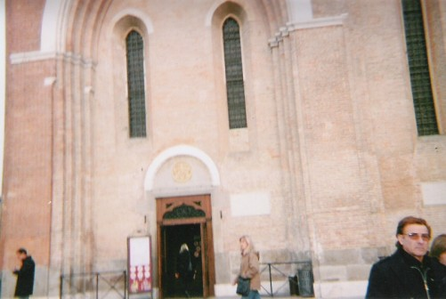 Outside the Pontifical Basilica of Saint Anthony of Padua.