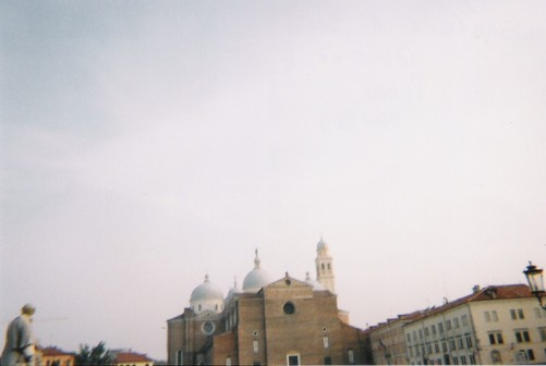 Looking towards the domes of Santa Giustina basilica.