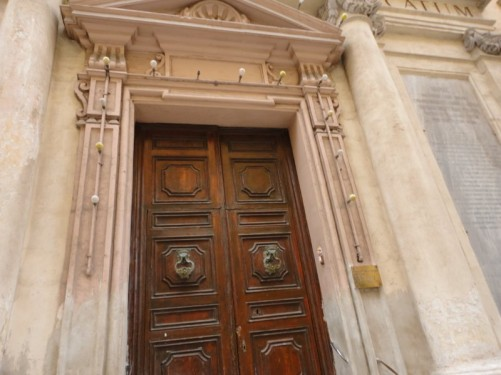 Doorway of St. Barbara church.