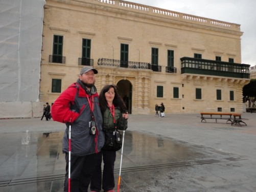 Tony, Tatiana and the Grand Master's Palace.