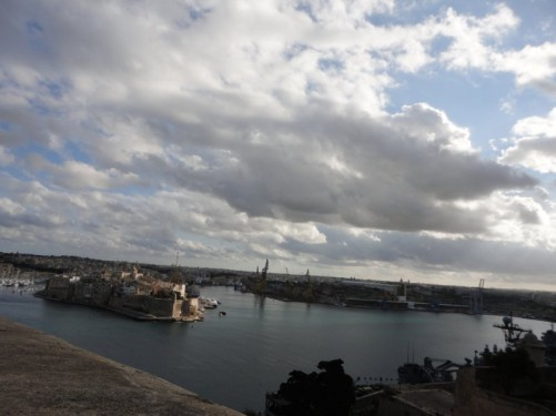 The Grand Harbour. Senglea (L-Isla), one of the Three Cities, can be seen opposite.