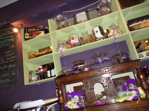 Inside Angelica café.