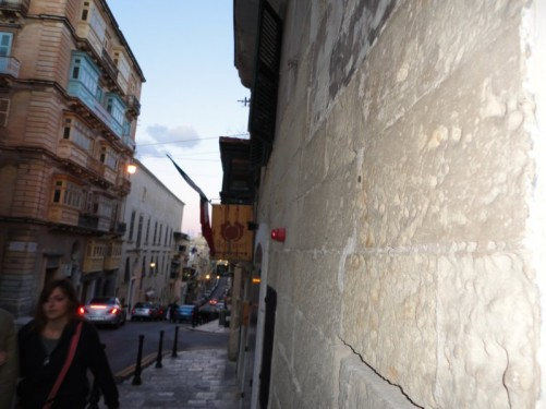One of the long straight streets that run down the length of Valletta, parallel to Republic Street.