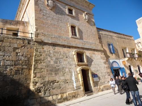 Torre dello Standardo, a historic tower on St Publius Square just inside the Main Gate.