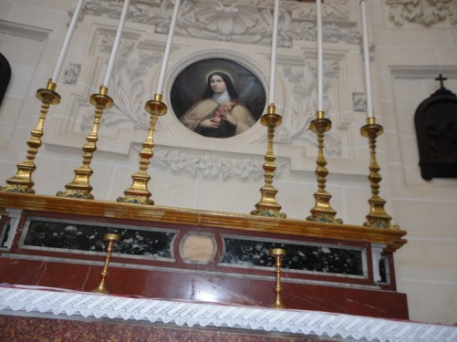 A side altar in the Basilica of Our Lady of Mount Carmel.