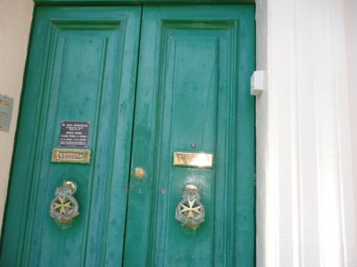 Doorway of the St. John Ambulance headquarters, Independence Square.