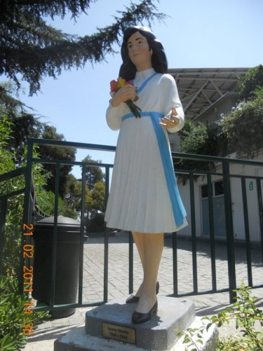 Statue of Laura Vicuña (1891 - 1904). She was beatified by Pope John Paul II in 1988.