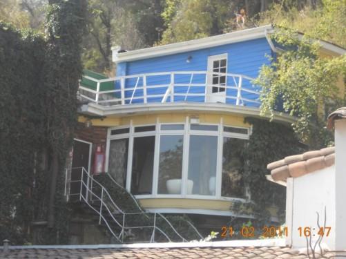 La Chascona, one of Chilean poet Pablo Neruda's three houses. Located at Márquez de la Plata 0192, near the end of Pio Nono and built on Cerro San Cristóbal itself