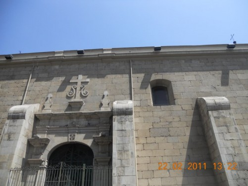The side of Santo Domingo church.