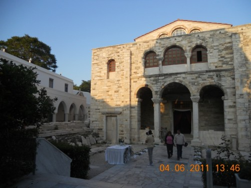 Courtyard outside the church.