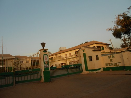Outside the Royal Victoria Teaching Hospital (RVH), Independence Drive, Banjul.