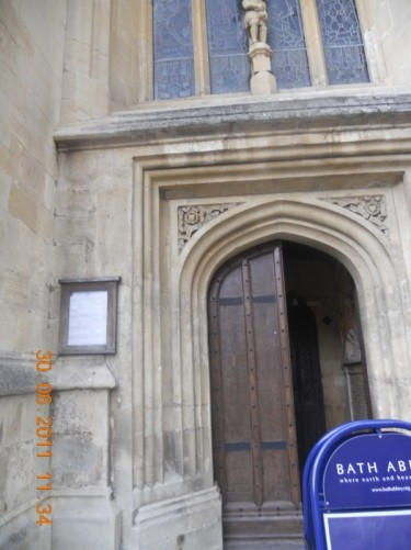 Side doorway into the abbey.