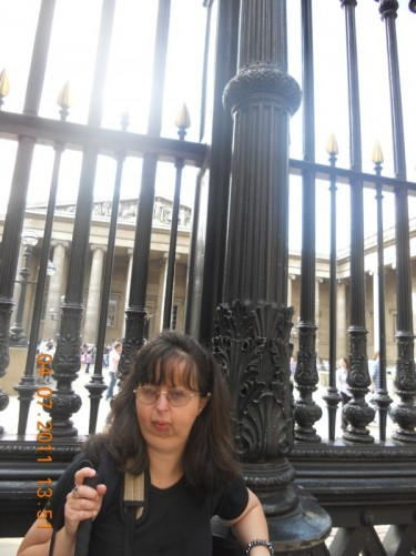 Tatiana by the railings.