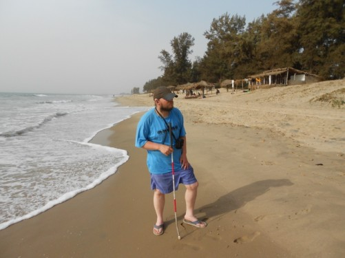 Tony on Abene Beach.