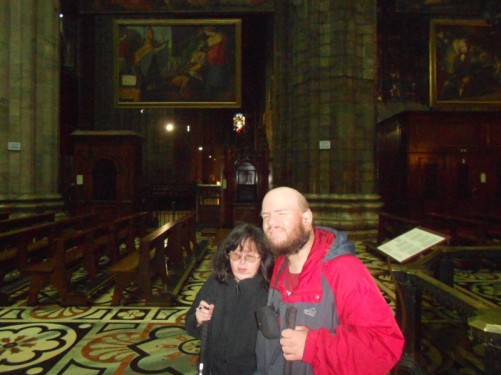 Tony and Tatiana inside the cathedral.