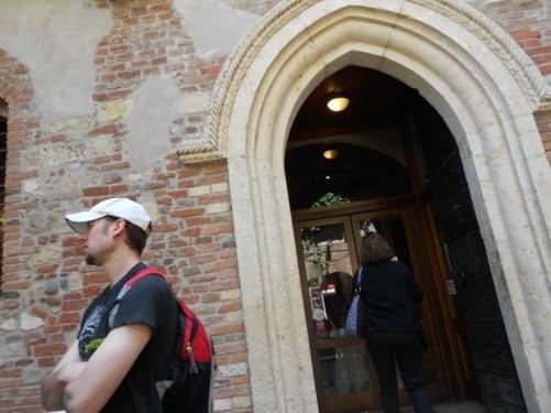 Juliet's House entrance.