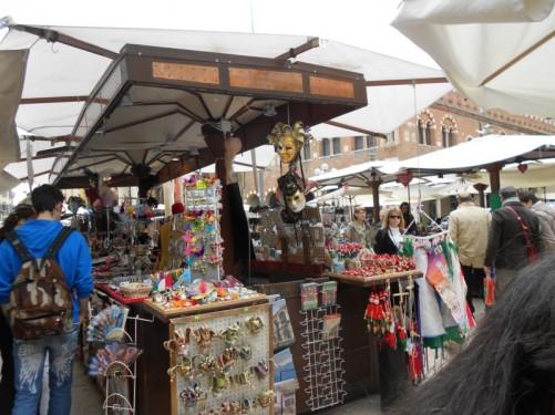 A market in Piazza delle Erbe.