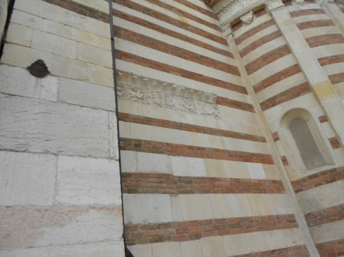 Verona Cathedral exterior wall.