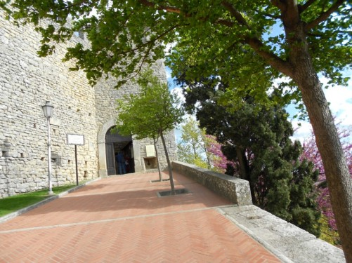 The entrance to Guaita Fortress (also known as Guaita Tower or First Tower).