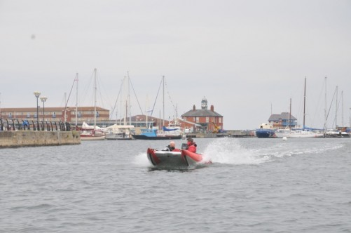 Another view of the Thundercat moving around the harbour.