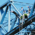 Link to photos: Bungee jump, Transporter Bridge, Middlesbrough, October 2012.