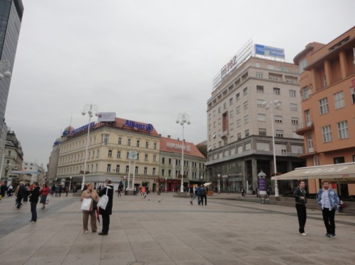 Looking the other way across Ban Jelacic Square.