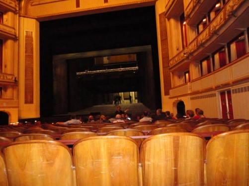 View towards the stage.