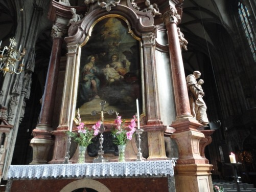 Another altar - there are 18 altars in the main part of the church.