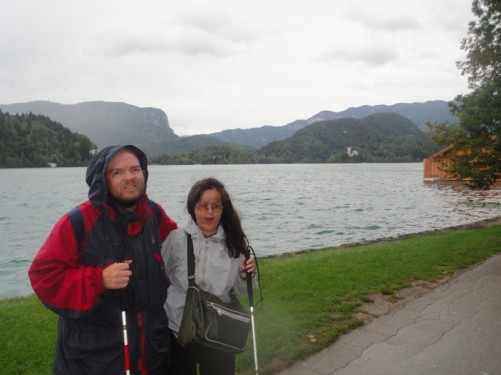Tony and Tatiana by Lake Bled.