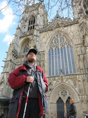 Tony in front of York Minster.