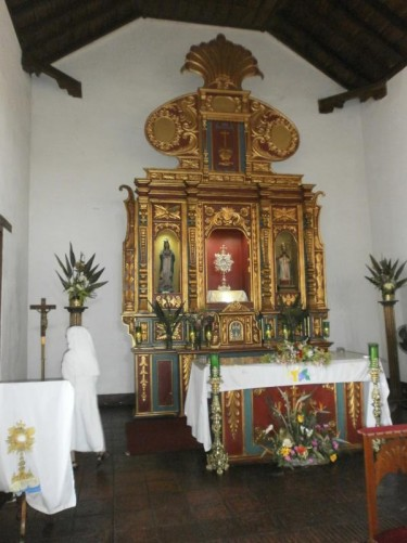 The main altar inside St Clement's Church.