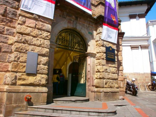 Main entrance into the Metropolitan Cultural Centre.