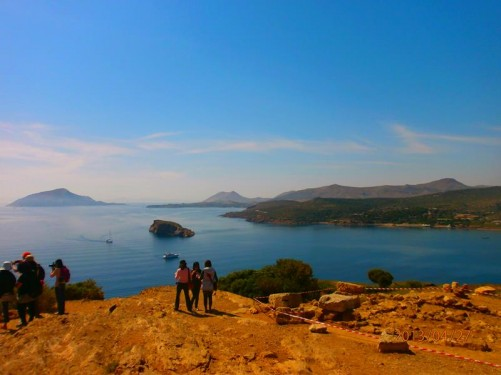 A beautiful view of the Aegean Sea from the temple site.