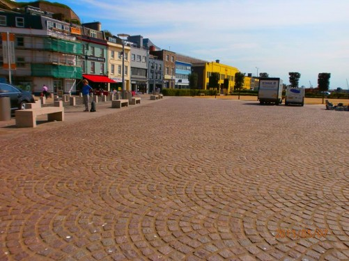 Weighbridge Place. An open space opposite Liberation Square and near Jersey Museum and Art Gallery. Markets are held here.