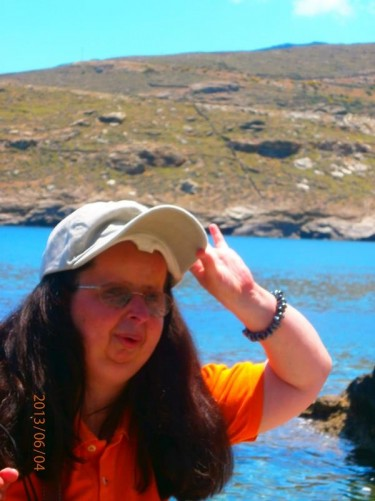 Tatiana by the sea.