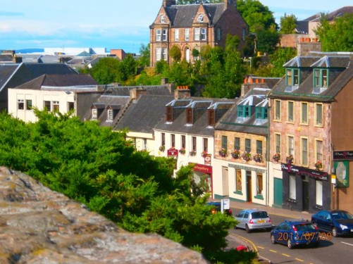 Another view from Inverness Castle. Looking west along Castle Street towards High Street.