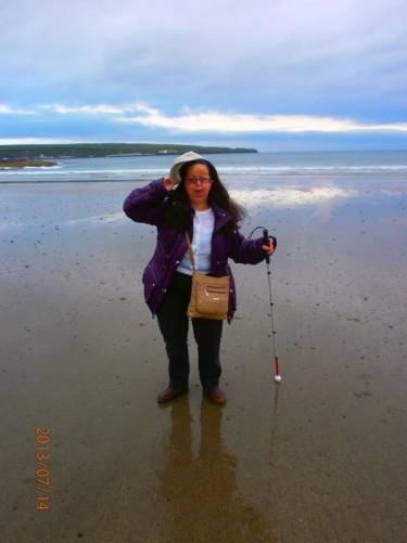 Tatiana on the beach.