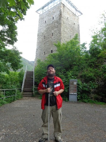 The Black Tower (Turnul Negru), a 14th century medieval defensive watch tower on a large rock on Warthe Hill (Staja Hill), part of the city's former fortifications. It survived two fires caused by lightning, getting its name as a result of the first fire in 1599. Today the tower is 11 metres high with a glass roof constructed in 1995 and accessed up wooden stairs. It houses temporary exhibitions.