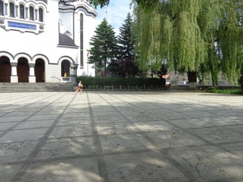A square in front of the Orthodox Cathedral.