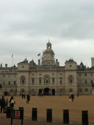 The central part of the Horse Guards building located at the back (east) side of Horse Guards Parade. It was built in Palladian style between 1751 and 1753 by John Vardy to a design by William Kent. It was formerly the headquarters of the British Army.