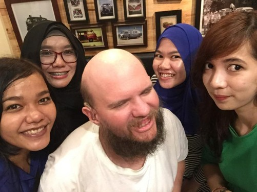Four beautiful local Indonesian girls.