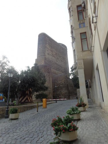 Yet another view of the Maiden Tower. This one looking from a street at the rear.