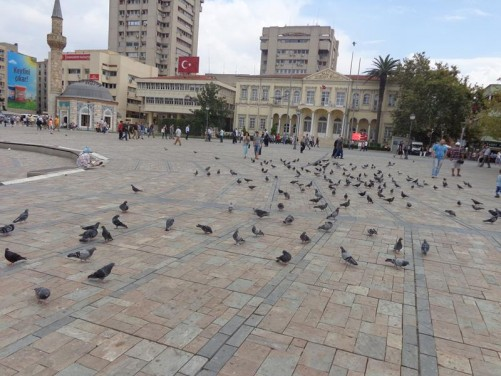 View towards the Governor's Mansion at the side of Konak Square.