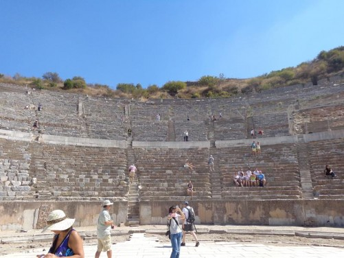 Inside the Theatre. Ephesus's impressive theatre once had 25,000 seats.