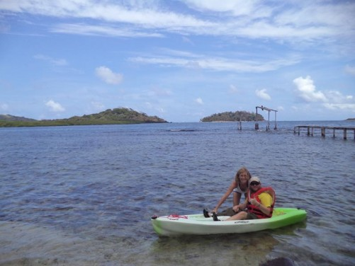 Tony now in the kayak ready to head into the mangroves.