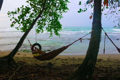 Tony sleeping in a hammock. Taken by Alex from San Diego California.