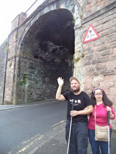 Tony and Tatiana at Butcher Gate, one of the four original gates through the city walls. Three further gates were added later, making seven gates in total.