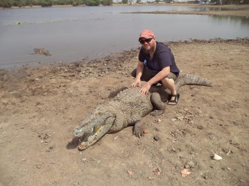 Again Tony with the crocodile.